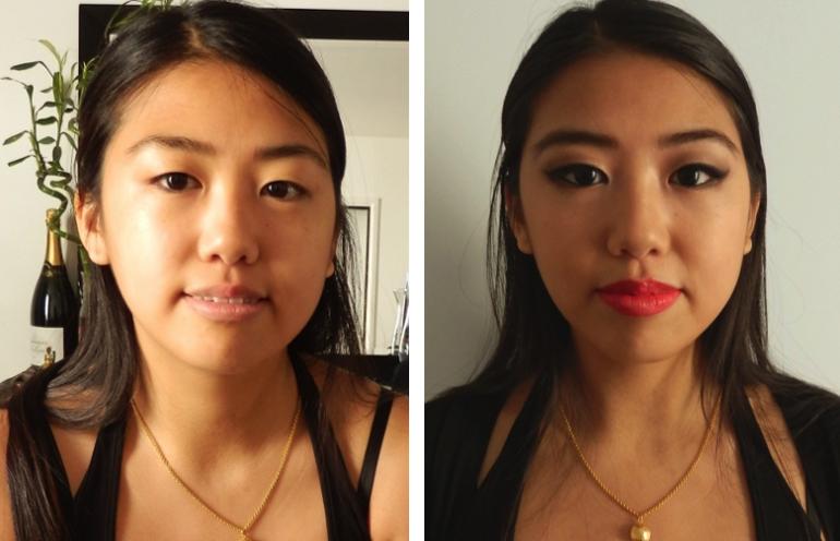 Maquiller des yeux bridés ou en forme d'amande avant/après