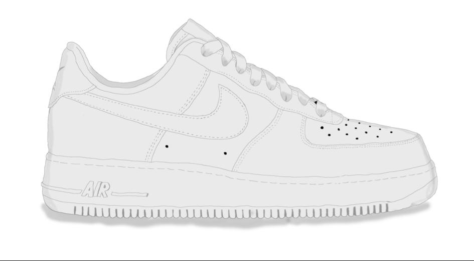 Modèle Air Force One de chez Nike / 100€