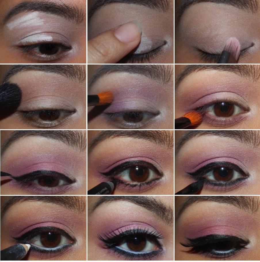 Maquillage des yeux romantique