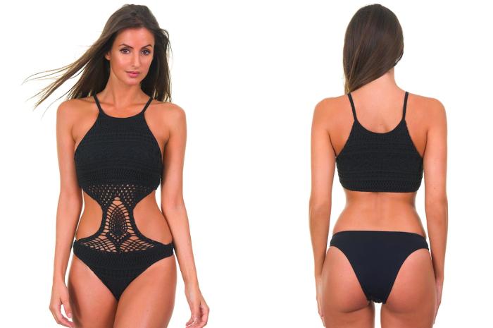 CECILIA PRADOTrikini Noir En Maille Tricotée - Body Helenice  brazilianbikinishop 220€